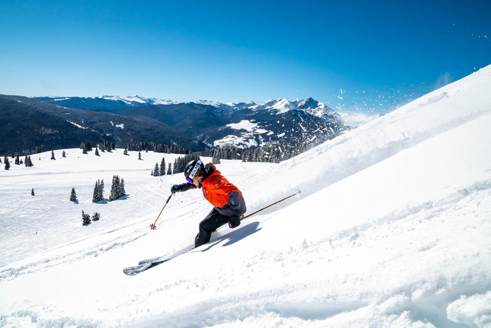 skier on colorado mountain