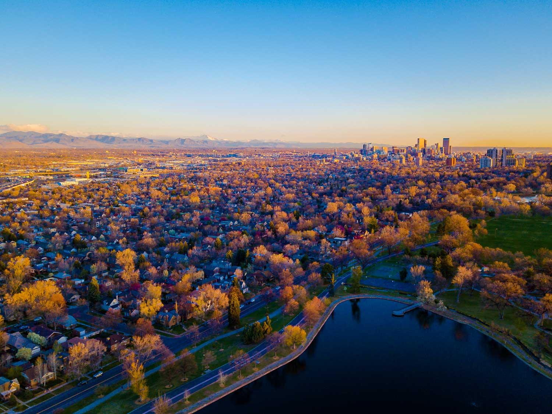 Denver drone photo