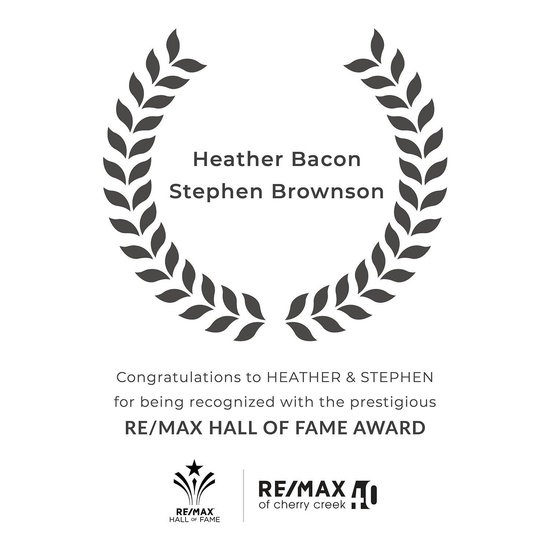 bacon brownson hall of fame award graphic