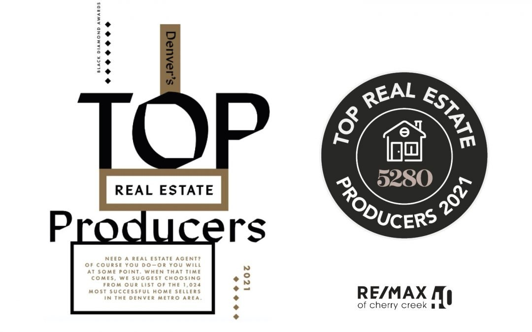 RE/MAX of Cherry Creek Brokers Recognized with 5280 Top Producer Award