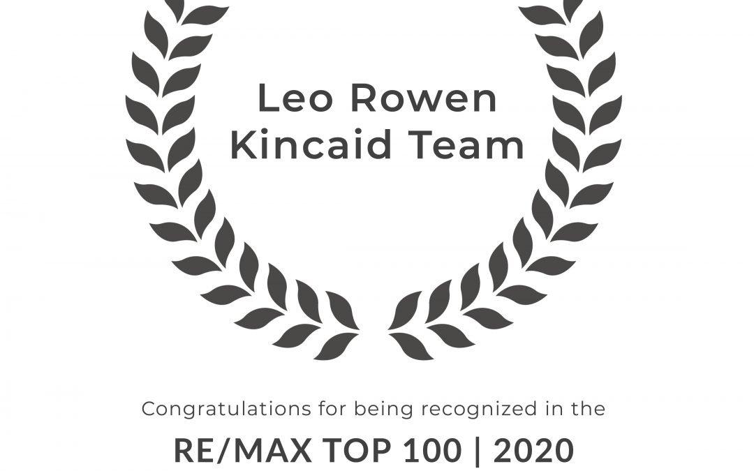 Leo Rowen + The Kincaid Team Earn RE/MAX Top 100 Ranking