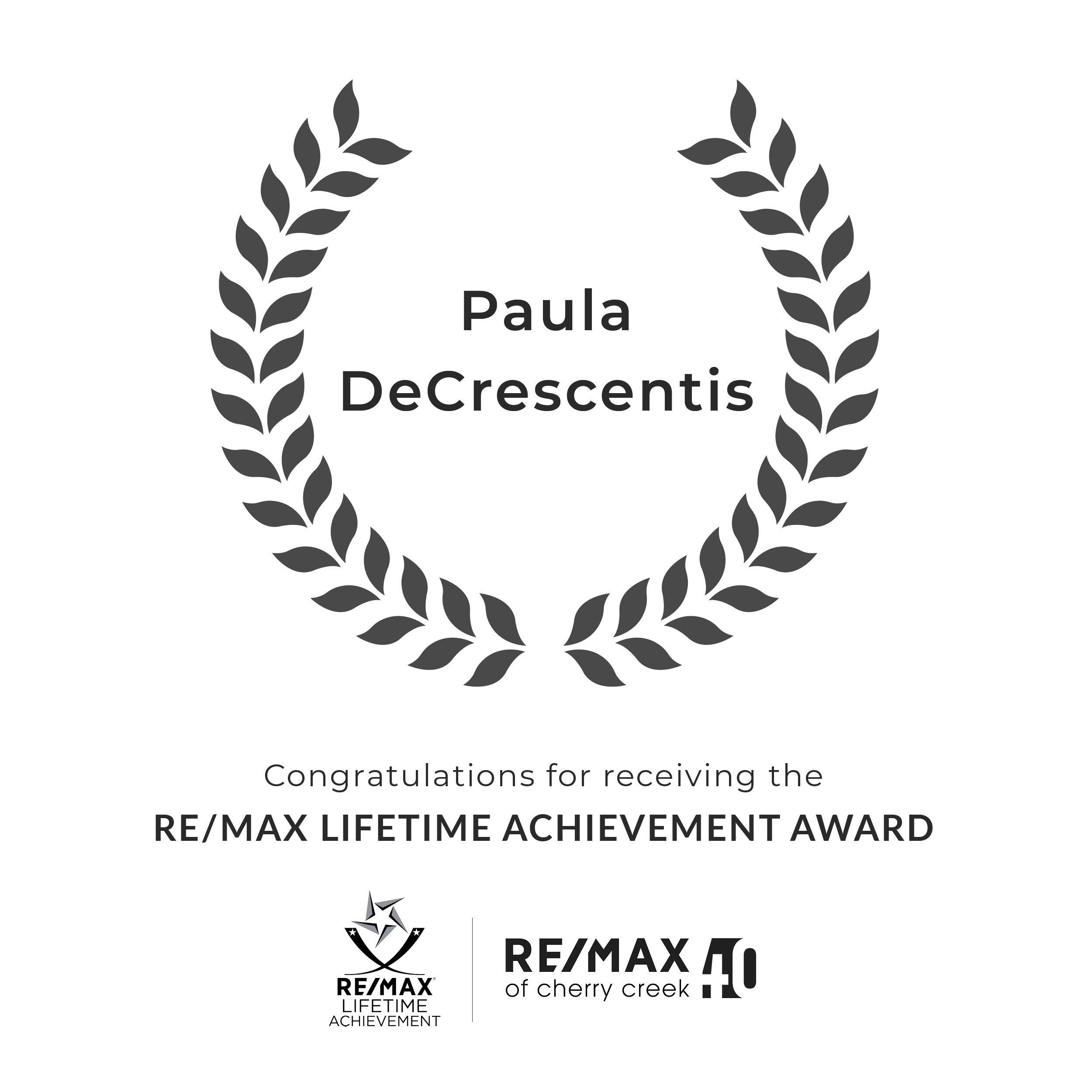 paula lifetime achievement