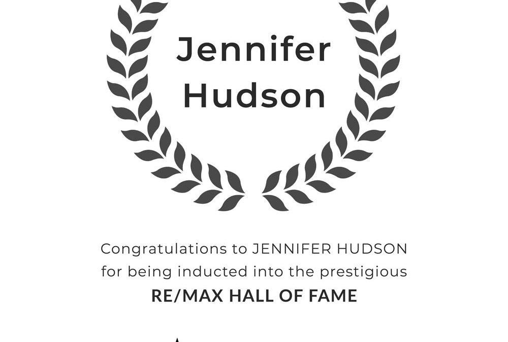 Jennifer Hudson Earns RE/MAX Hall of Fame Award