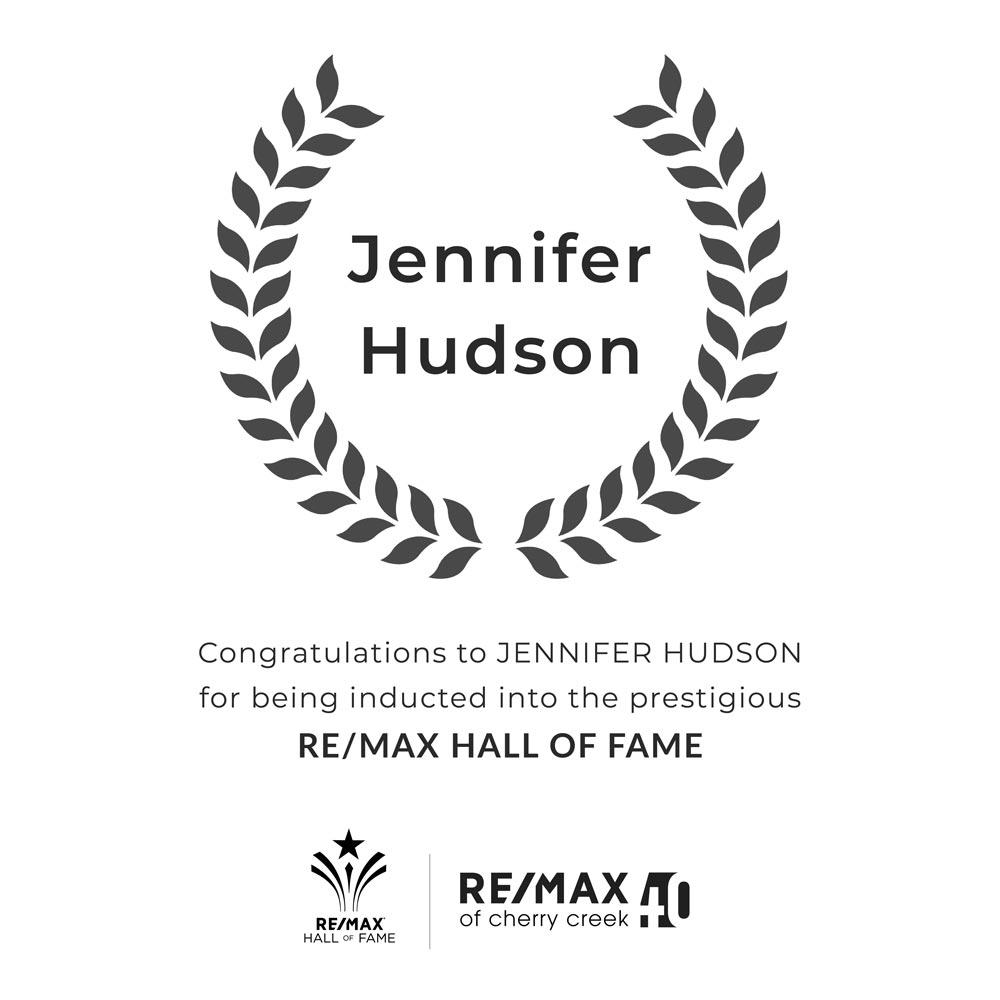 jennifer hudson award re/max hall of fame